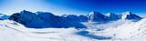 Fototapety Winter mountains, panorama - ski slopes in the Italian Alps