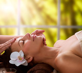 Fototapete Massage - Gesicht - Frau