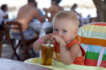 Child drinking juice