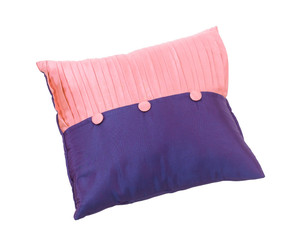 Nice design of the two tone violet and pink cushion