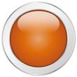 Oranger Button rund Struktur