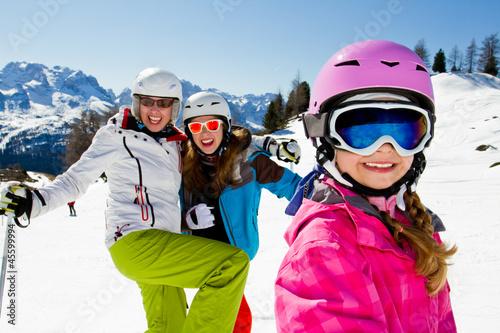 Ski, skiing, winter, snow, sun and fun - 45599994