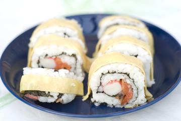 Sushi with egg
