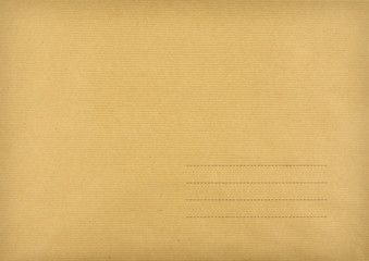 Brown envelope made ​​of striped paper