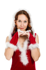 Beautiful Happy Christmas Woman