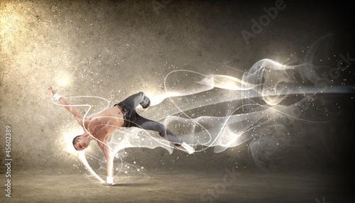 Leinwandbild Motiv Modern style dancer posing