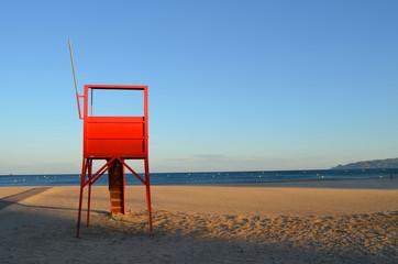 Cabina de vigilancia de la playa de l'Estartit