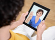 Video chat communication on digital tablet