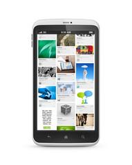 Social media application on mobile smartphone