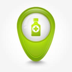 Puntatore 3D_verde medicina