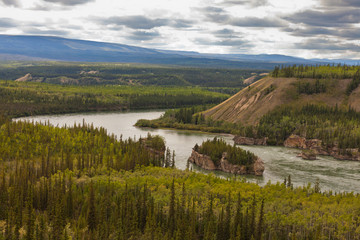 Five Finger Rapids of Yukon River Yukon T Canada