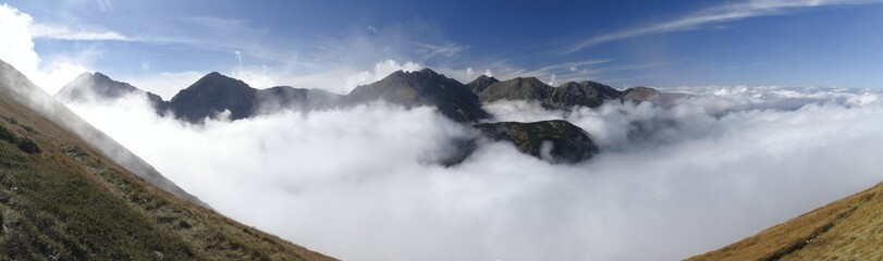 southern look form Rakon  in West part of Tatra mountains