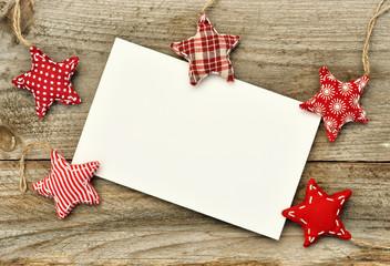 Hintergrund mit genähten Weihnachtsternen