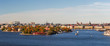 Panoramic image of Stockholm city.