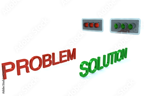 Word Problem stop before red signal and word Solution GO on gren