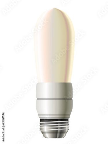 Energy saving lamp, oval shape. Eps10