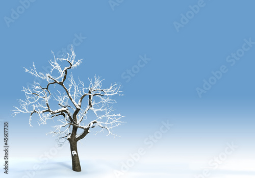 Clean blue sky winter background.