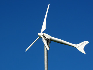 Wind turbine, renewable energy source for every home.