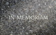 In Memoriam Inscribed In A Marble Grave Stone - 45608901