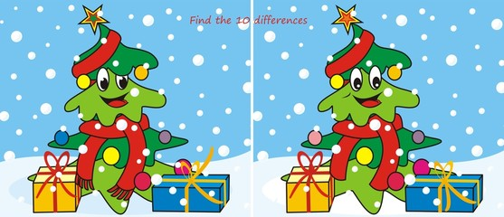 Christmas tree-scarf 10 differences