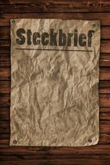 Steckbrief Plakat