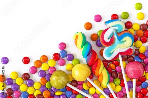 Aluminium Snoepjes Mixed colorful sweets