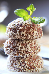 Chocolate coconut confections