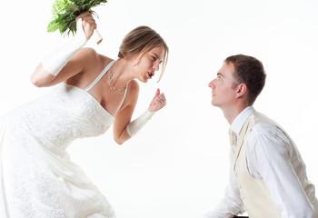 Hochzeitspaar im Streit