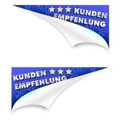 KUNDEN EMPFEHLUNG - ECKEN 3D - links und rechts