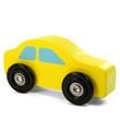 Gelbes Holzauto