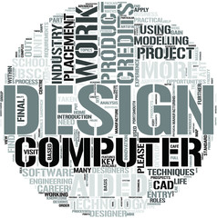 Computer Aided Product Design Word Cloud Concept