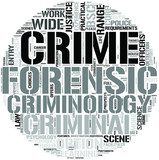 Criminology And Forensic Studies Word Cloud Concept