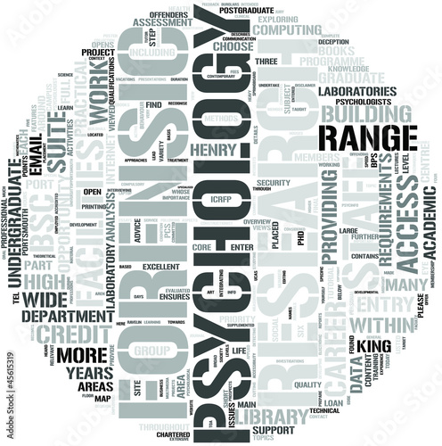 Forensic Psychology Word Cloud Concept