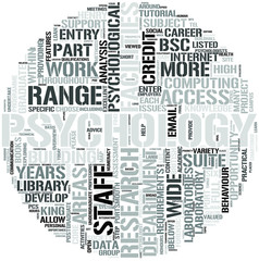 Psychology Word Cloud Concept