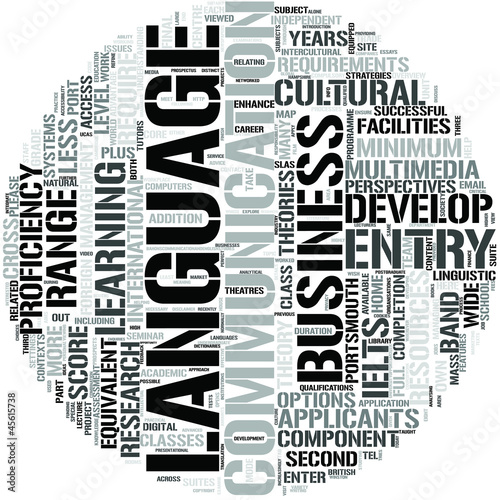 Communication And English Studies Word Cloud Concept