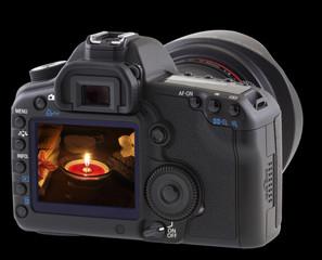 décor massage nocturne sur écran appareil photo