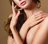 romantic girl with beautiful makeup