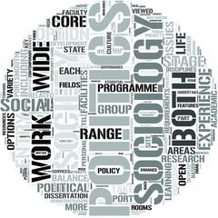 Politics And Sociology Word Cloud Concept