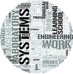 Computer Engineering Word Cloud Concept