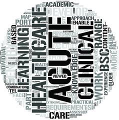 Acute Clinical Healthcare Word Cloud Concept