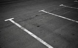 An empty parking places background texture
