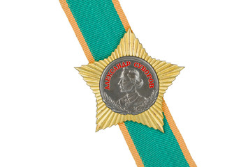 Order of Suvorov II degree on the tape.
