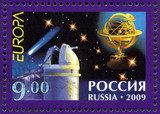 """RUSSIA - 2009: shows Issue by program """"Europe"""", Astronomy"""