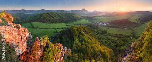 Mountain sunset panorama in Slovakia