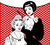 Vintage retro woman Hairdressing - Retro poster