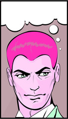 Retro Pop Art Man In Thought