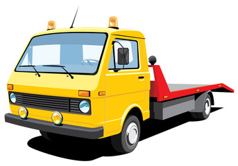 Vector isolated tow truck