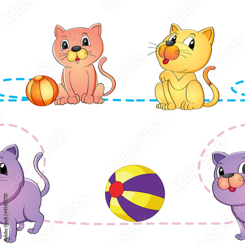 cats and ball