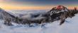 Winter mountain panorama at sunset - Slovakia