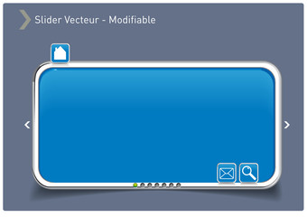 Slider bleu icon tactile Vectoriel